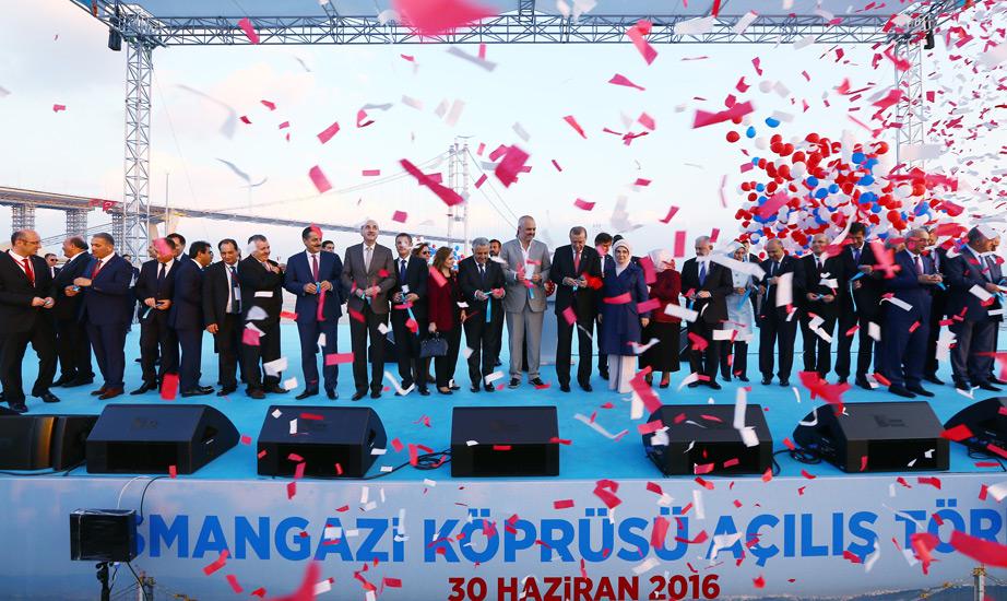 Cumhurbaşkanı Erdoğan, Osmangazi Köprüsü'nün Açılışını Yaptı