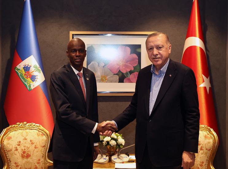 Presidency Of The Republic Of Turkey : President Erdoğan meets with President Moïse of Haiti