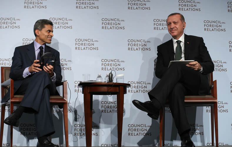 Image result for recep tayyip erdogan and Fareed Zakaria