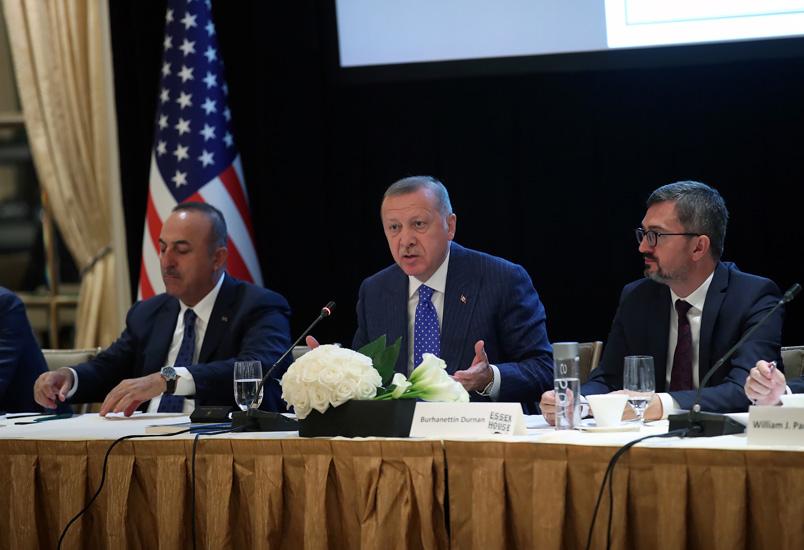T.C.CUMHURBAŞKANLIĞI : Cumhurbaşkanı Erdoğan, New York'ta Doğu-Batı Enstitüsü'nün toplantısına katıldı