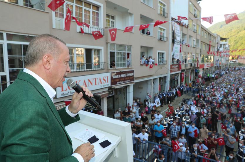 Erdoğan Giresun'da: Dere yataklarını ıslah edeceğiz, yıkımsa yıkım
