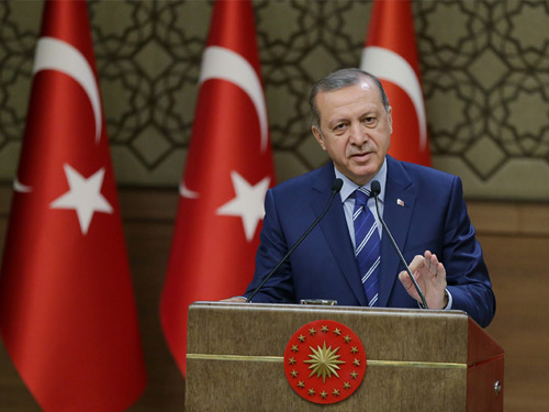 President Erdoğan Addresses Exporters at the Presidential Complex