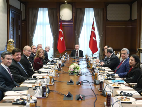 Atlantic Council Delegation at the Presidential Complex