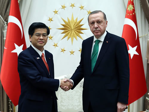 Japanese Land, Infrastructure, Transport and Tourism Minister Ishii at the Presidential Complex