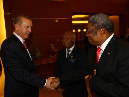 Cumhurbaşkanı Erdoğan, Madagaskar'da Meclis ve Senato Başkanını Kabul Etti