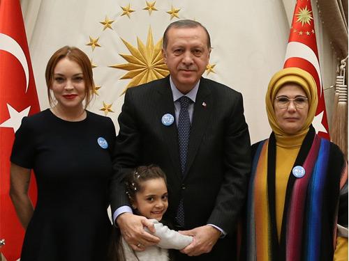 Cumhurbaşkanı Erdoğan, Lindsay Lohan'ı Kabul Etti