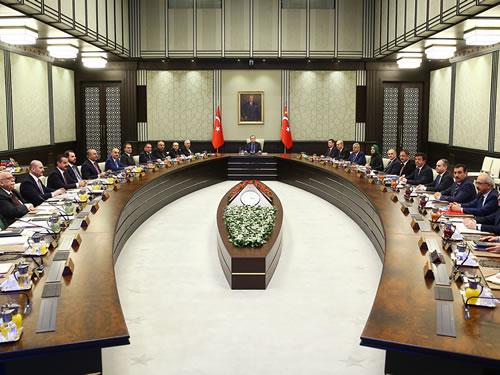 Bakanlar Kurulu Toplantısı Cumhurbaşkanlığı Külliyesinde Başladı