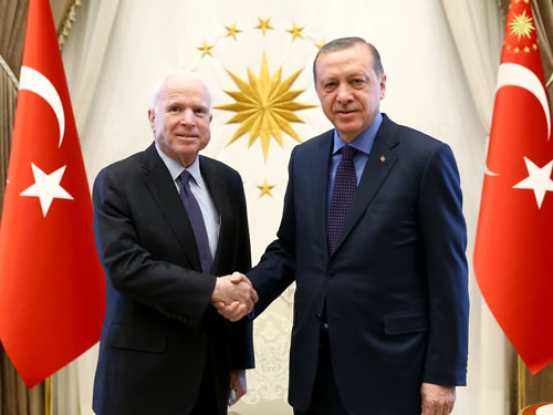 US Senator McCain at the Presidential Complex