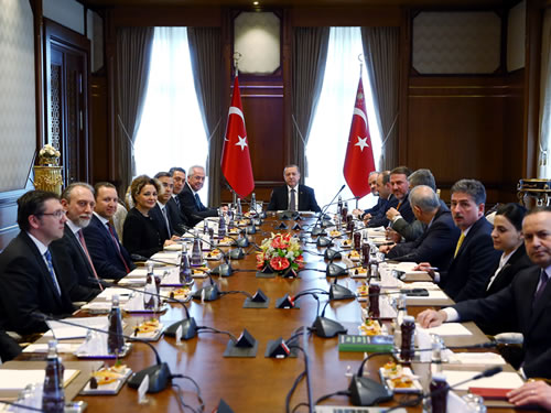 TÜSİAD Delegation at the Presidential Complex