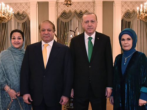 President Erdoğan Meets with Pakistani PM Sharif