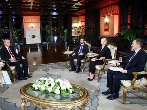 Cumhurbaşkanı Erdoğan, TRT Ortak Yayınına Katıldı