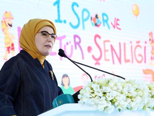 Emine Erdoğan, 'Spor Kardeşliktir' Etkinliğine Katıldı