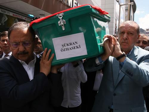 Cumhurbaşkanı Erdoğan, Şükran Özhaseki'nin Cenaze Törenine Katıldı