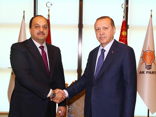 Cumhurbaşkanı Erdoğan, Katar Savunma Bakanı El Atiyye'yi Kabul Etti