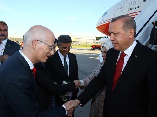 Cumhurbaşkanı Erdoğan Almanya'da