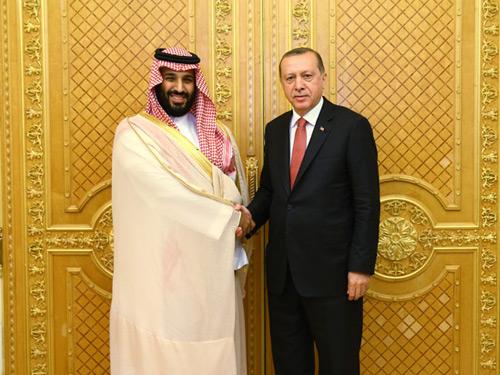 Cumhurbaşkanı Erdoğan, Suudi Arabistan Veliaht Prensi Muhammed'i Kabul Etti