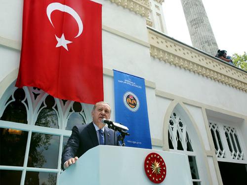Cumhurbaşkanı Erdoğan, Yıldız Hamidiye Camisi'nin Açılışını Yaptı