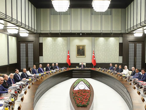 Council of Ministers Convenes at the Presidential Complex