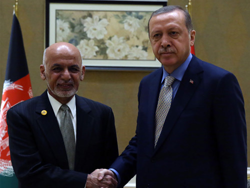 Cumhurbaşkanı Erdoğan, Afganistan Cumhurbaşkanı Gani ile Görüştü