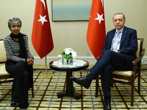 Cumhurbaşkanı Erdoğan, Minnesota Temsilciler Meclisi Üyesi Omar'ı Kabul Etti