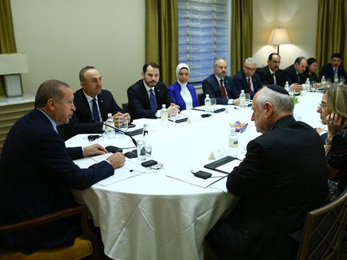Cumhurbaşkanı Erdoğan, Yahudi Kuruluş Temsilcilerini Kabul Etti