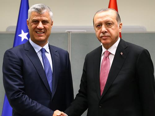Cumhurbaşkanı Erdoğan, Kosova Cumhurbaşkanı Thaçi ile Görüştü