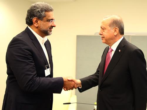 Cumhurbaşkanı Erdoğan, Pakistan Başbakanı Abbasi'yi Kabul Etti