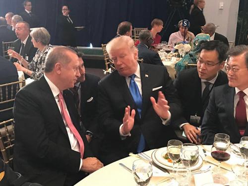 Cumhurbaşkanı Erdoğan, BM Genel Sekreteri Guterres'in Verdiği Yemeğe Katıldı