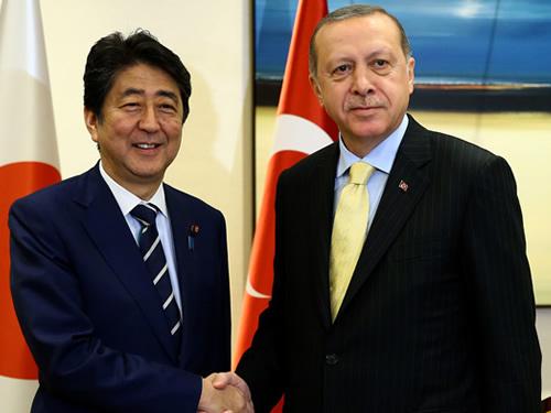 Cumhurbaşkanı Erdoğan, Japonya Başbakanı Abe'yi Kabul Etti