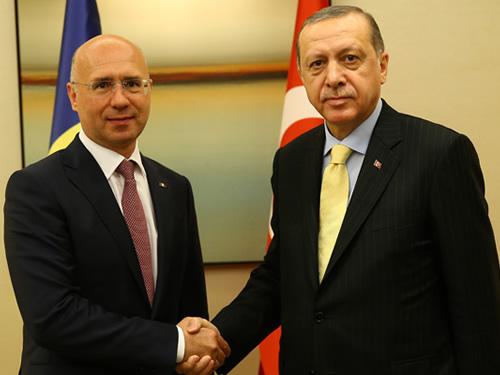 Cumhurbaşkanı Erdoğan, Moldova Başbakanı Filip'i Kabul Etti