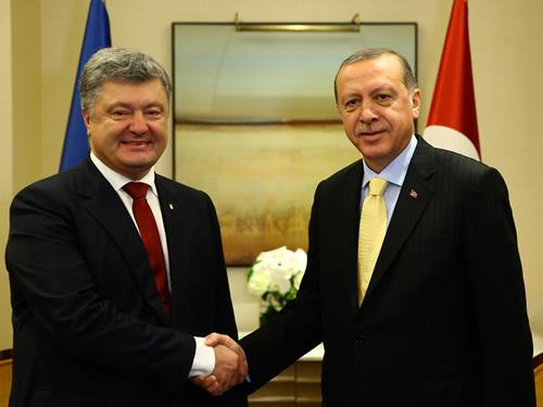 Cumhurbaşkanı Erdoğan, Ukrayna Devlet Başkanı Poroşenko ile Görüştü