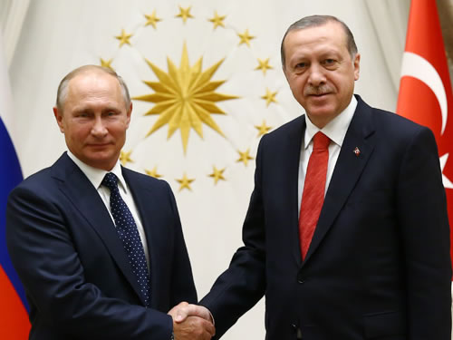 Rusya Devlet Başkanı Putin Cumhurbaşkanlığı Külliyesinde