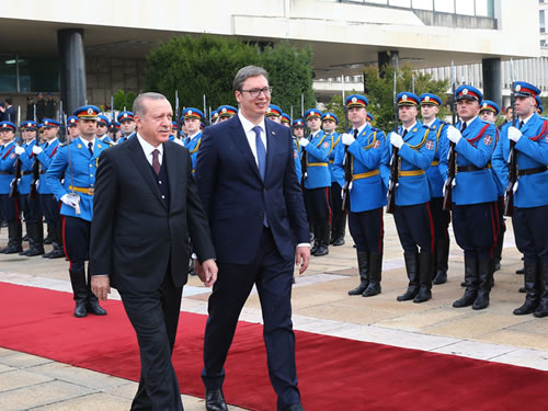 President Erdoğan Meets with President Vucic of Serbia