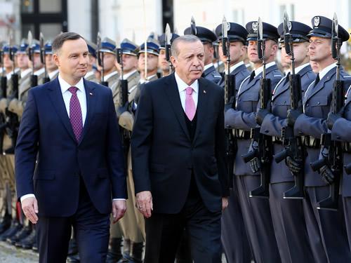 Cumhurbaşkanı Erdoğan, Polonya Cumhurbaşkanlığı Sarayında