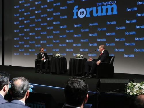 Cumhurbaşkanı Erdoğan TRT World Forum'a Katıldı