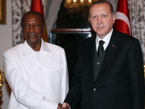 Cumhurbaşkanı Erdoğan, Gine Cumhurbaşkanı Conde ile Görüştü