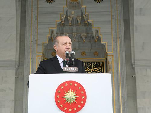 Cumhurbaşkanı Erdoğan, Melike Hatun Camii'nin Açılışını Yaptı