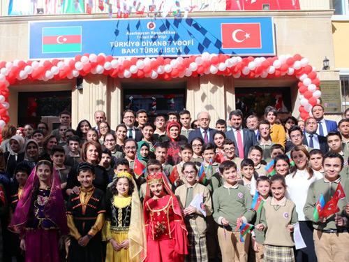 Emine Erdoğan, Yenilenen Bakü Türk Lisesi Açılış Töreni'ne Katıldı