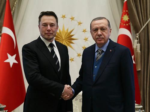 Cumhurbaşkanı Erdoğan, SpaceX Şirketinin Kurucusu Musk'ı Kabul Etti
