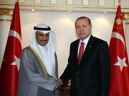 Cumhurbaşkanı Erdoğan, Kuveyt Ulusal Meclis Başkanı Merzuk el-Ganim'i Kabul Etti