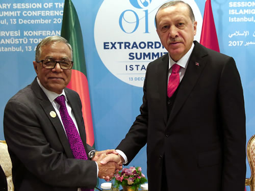 Cumhurbaşkanı Erdoğan, Bangladeş Cumhurbaşkanı Hamid ile Görüştü