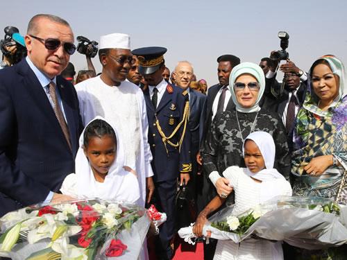Cumhurbaşkanı Erdoğan Çad'da