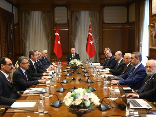 Cumhurbaşkanlığı Külliyesinde Güvenlik Toplantısı