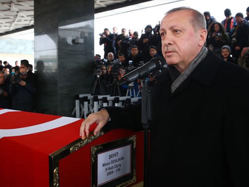 Cumhurbaşkanı Erdoğan, Şehit Astsubay Musa Özalkan'ın Cenaze Törenine Katıldı