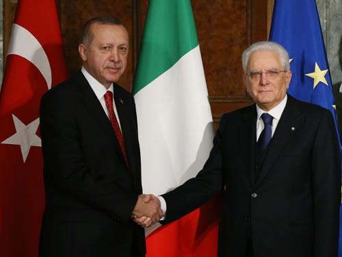 Cumhurbaşkanı Erdoğan, İtalya Cumhurbaşkanlığı Sarayında