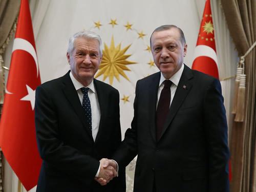 Cumhurbaşkanı Erdoğan, Avrupa Konseyi Genel Sekreteri Jagland'ı Kabul Etti