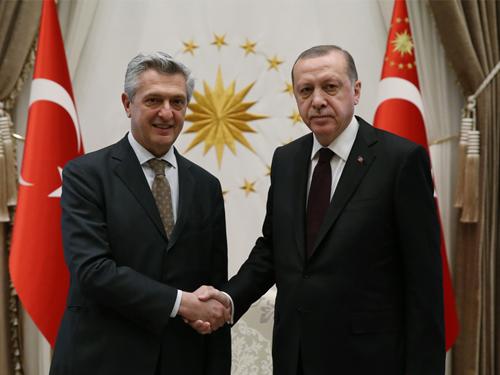 Cumhurbaşkanı Erdoğan, BM Mülteciler Yüksek Komiseri Grandi'yi Kabul Etti