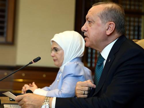 Cumhurbaşkanı Erdoğan, Vicdan Konvoyu temsilcilerini kabul etti
