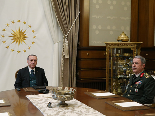 Cumhurbaşkanı Erdoğan, Genelkurmay Başkanı Org. Akar'ı kabul etti
