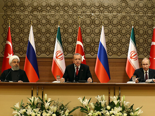 Turkey-Russia-Iran Trilateral Summit emphasizes Syria's territorial integrity